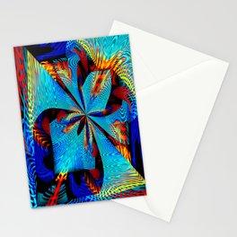 diagonal burst Stationery Cards