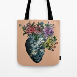 Flowered Heart old version Tote Bag