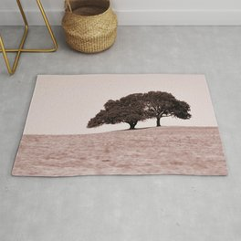country trees reddened earth tone washed out effect aesthetic landscape art photography Rug