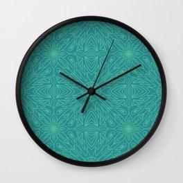 Symmetry Blue Wall Clock