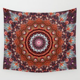 Resplendent Fractal Mandala Wall Tapestry