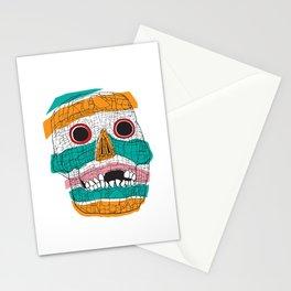 Stripy Skull  Stationery Cards