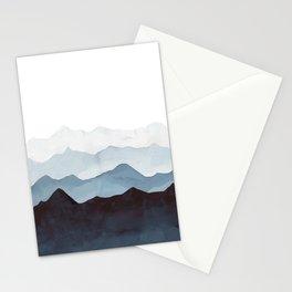 Indigo Mountains Landscape Stationery Cards