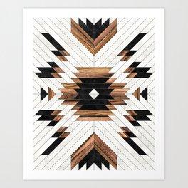 Urban Tribal Pattern No.5 - Aztec - Concrete and Wood Kunstdrucke