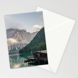 Mountain Lake Cabin Retreat Stationery Cards