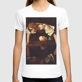Narcissus - Caravaggio T-shirt