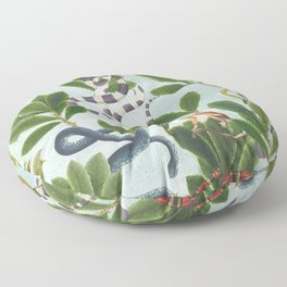 Snakes and Leaves  Floor Pillow