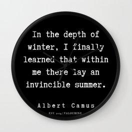 3  | Albert Camus Quotes | 190704 Wall Clock