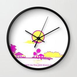 Pop-Art Premiere Home Drip Decorations - Paradise 2021 Trending Mood #Respectfully LAKER 2 Wall Clock
