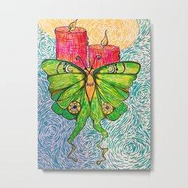 Like a Moth to Flame Metal Print