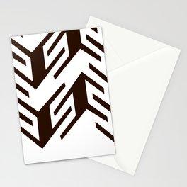 black white geometric art Stationery Cards