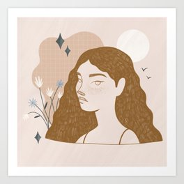 mind full of spring Art Print