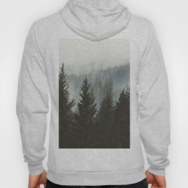 Forest Fog Mountain IV - Wanderlust Nature Photography Hoody