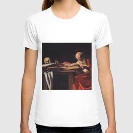 Saint Jerome Writing - Caravaggio T-shirt