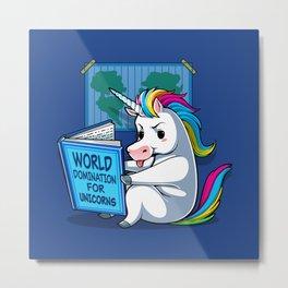 World Domination for Unicorns Metal Print