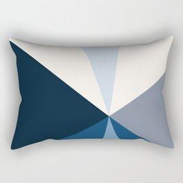Tetrachromatic in blue Rectangular Pillow