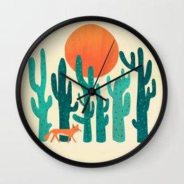 Desert fox Wall Clock