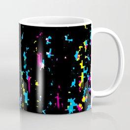 Black Glitch Dripping Coffee Mug