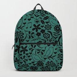 Sing Love Birds Flowers Backpack