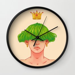 The blind king Wall Clock
