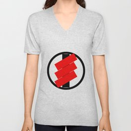 red rectangles Unisex V-Neck