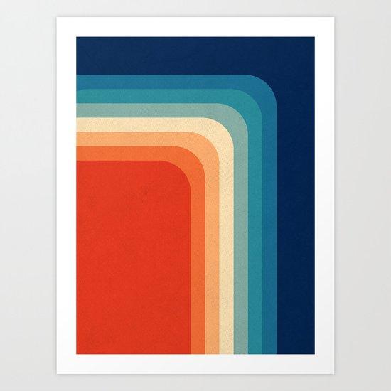 retro 70s color palette iii art print by alisa galitsyna. Black Bedroom Furniture Sets. Home Design Ideas