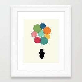 Happy Landing Framed Art Print