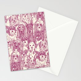 dogs aplenty cherry pearl Stationery Cards