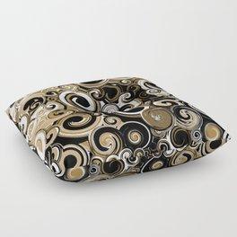Coffee Swirls Floor Pillow