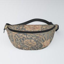 Honeysuckle by William Morris 1876 Antique Vintage Pattern, CC0 Spring Summer Fanny Pack
