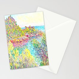 MONET : Landscape Near Montecarlo Stationery Cards
