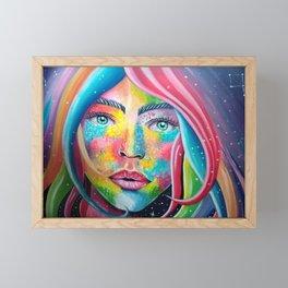 pretty and colorful Framed Mini Art Print