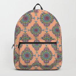 Vintage Moroccan Pattern in Peach Backpack