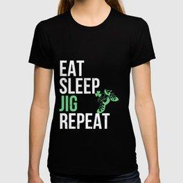 Best Funny Eat Sleep Irish Dance Jig Girls Gift  T-shirt