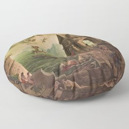Ulysses Farewell to Penelope Seaport Landscape by Rex Whistler Floor Pillow