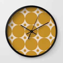 Futura Mid-century Modern Minimalist Abstract Pattern in Mustard Gold Wall Clock