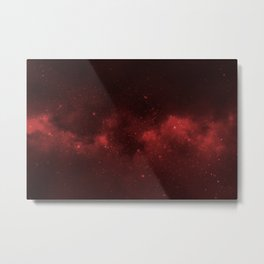 Fascinating view of the red cosmic sky Metal Print