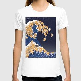 Shiba Inu The Great Wave in Night T-Shirt