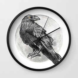 The Exotic Raven Wall Clock