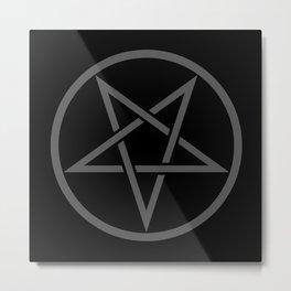 Satanic Pentagram (gray matter edit) Metal Print