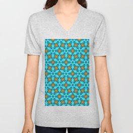 Turquoise Mandalas   Unisex V-Neck