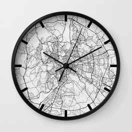 Rome City Map of Italy - Light Wall Clock