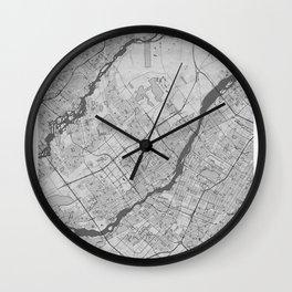 Laval Pencil City Map Wall Clock
