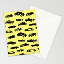 Classic Cars // Yellow Stationery Cards