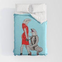 Deviant Dolphins Duvet Cover