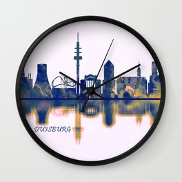 Duisburg Skyline Wall Clock