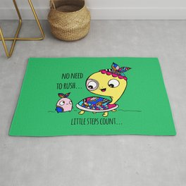 """""""Little Steps Count"""" / Turtle and His Friend Rug"""