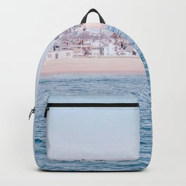 Vintage Newport Beach Print {3 of 4} | Photography Ocean Palm Trees Cool Blue Tropical Summer Sky Backpack