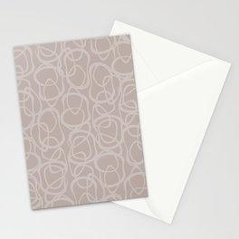 Interlocking Tan | Pattern Stationery Cards