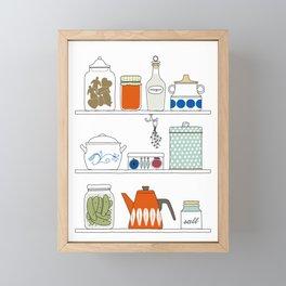 Scandinavian Pantry Framed Mini Art Print